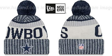 Cowboys 2017 STADIUM BEANIE Navy Knit Hat by New Era