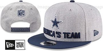 Cowboys 2018 ONSTAGE SNAPBACK Grey-Navy Hat by New Era