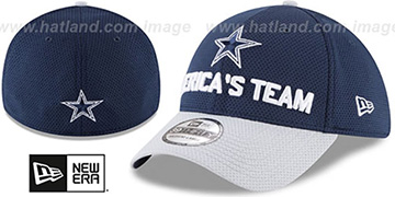 Cowboys 2018 SPOTLIGHT FLEX Navy-Grey Hat by New Era