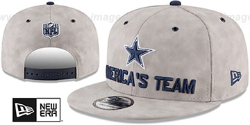 Cowboys 2018 SPOTLIGHT LEATHER SNAPBACK Grey Hat by New Era