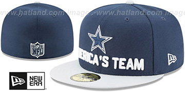 Cowboys 2018 SPOTLIGHT Navy-Grey Fitted Hat by New Era