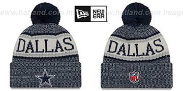 Cowboys 2018 STADIUM BEANIE Navy Knit Hat by New Era