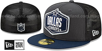 Cowboys 2021 NFL TRUCKER DRAFT Fitted Hat by New Era
