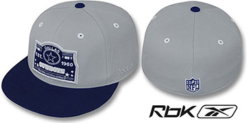 Cowboys '2T ESTABLISHED' Grey-Navy Fitted Hat by Reebok