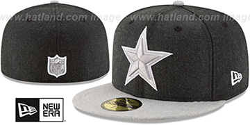 Cowboys '2T-HEATHER ACTION' Charcoal-Grey Fitted Hat by New Era