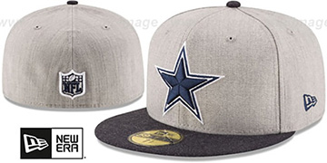 Cowboys '2T-HEATHER ACTION' Grey-Navy Fitted Hat by New Era
