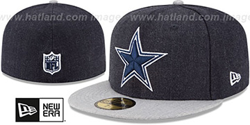 Cowboys '2T-HEATHER ACTION' Navy-Grey Fitted Hat by New Era