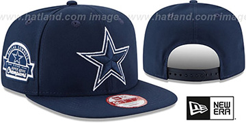 Cowboys 5X 'TITLES SIDE-PATCH SNAPBACK' Navy Hat by New Era