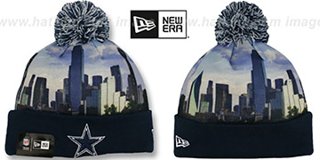Cowboys 'ALLOUT CITY' Knit Beanie Hat by New Era