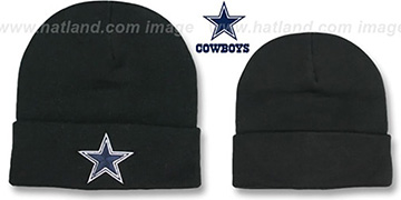 Cowboys 'BASIC-KNIT' Black Beanie Hat