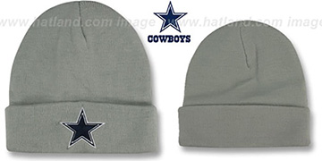 Cowboys 'BASIC-KNIT' Grey Beanie Hat