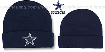 Cowboys 'BASIC-KNIT' Navy Beanie Hat