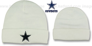 Cowboys 'BASIC-KNIT' White Beanie Hat