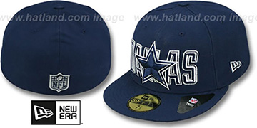 Cowboys BEVEL-PITCH Navy Fitted Hat by New Era