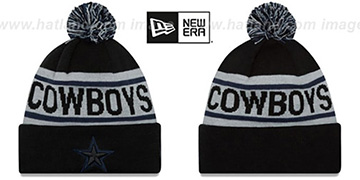 Cowboys 'BIGGEST FAN' Black-Grey Knit Beanie Hat by New Era