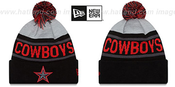 Cowboys BIGGEST FAN Black-Red Knit Beanie Hat by New Era