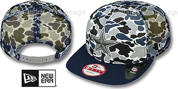 Cowboys CAMO-FACE MESH SNAPBACK Blue Hat by New Era