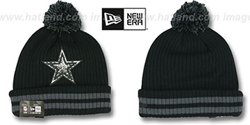 Cowboys CHILLER FILLER BEANIE Black-Grey by New Era