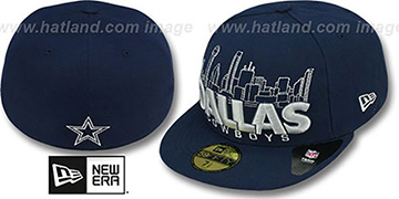 Cowboys 'CITY SERIES WORD' Navy Fitted Hat by New Era