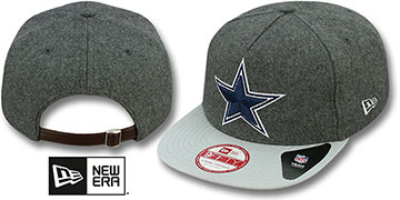 Cowboys 'CLASSIC MELTON' STRAPBACK Grey-Grey Hat by New Era