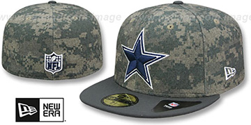 Cowboys 'CLASSIC-TRIM' Digital Camo Fitted Hat by New Era