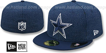 Cowboys CLASSIC-TRIM Navy Fitted Hat by New Era