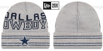Cowboys CRISP-N-COZY Grey Knit Beanie Hat by New Era