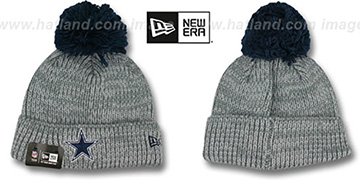 Cowboys 'CUFF START' Grey Knit Beanie Hat by New Era