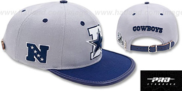 Cowboys D-STAR STRAPBACK Grey-Navy Hat by Pro Standard