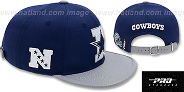 Cowboys 'D-STAR STRAPBACK' Navy-Grey Hat by Pro Standard
