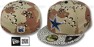 Cowboys DESERT STORM CAMO-HOOKED Fitted Hat by New Era