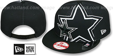 Cowboys 'DOUBLE-STAR SNAPBACK' Black-White Hat by New Era