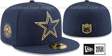 Cowboys 'FINEST SIDE-PATCH' Navy Fitted Hat by New Era