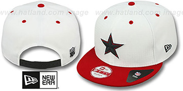 Cowboys 'FIRE-RED SNAPBACK' White-Red Hat by New Era