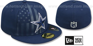 Cowboys 'FLAG-FRONT' Navy Fitted Hat by New Era