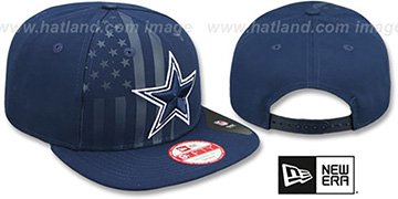 Cowboys 'FLAG-FRONT SNAPBACK' Navy Hat by New Era