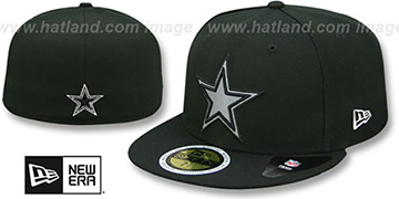 Cowboys 'FLECTED STAR' Black Fitted Hat by New Era