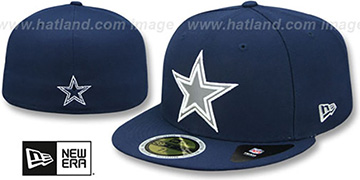 Cowboys 'FLECTED STAR' Navy Fitted Hat by New Era