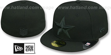Cowboys 'FRESH SIDE MESH' Black Fitted Hat by New Era