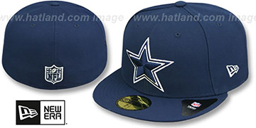 Cowboys 'FRESH SIDE MESH' Navy Fitted Hat by New Era