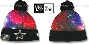 Cowboys 'GALACTIC LIGHTS' Knit Beanie Hat by New Era