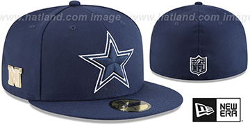 Cowboys GILDED TURN Navy Fitted Hat by New Era