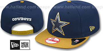 Cowboys '2015 GOLD COLLECTION SNAPBACK' Navy-Gold Hat by New Era