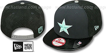 Cowboys GREEN-GLOW SNAPBACK Charcoal-Black Hat by New Era