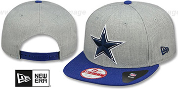 Cowboys 'HEATHER ACTION SNAPBACK' Grey-Royal Hat by New Era