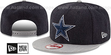 Cowboys HEATHER ACTION SNAPBACK Navy-Grey Hat by New Era