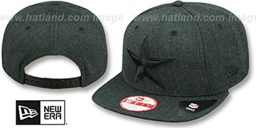 Cowboys 'HEATHER-BASIC SNAPBACK' Black Hat by New Era