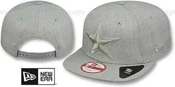 Cowboys 'HEATHER-BASIC SNAPBACK' Grey Hat by New Era