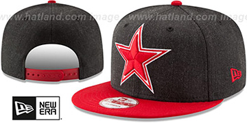 Cowboys 'HEATHER GRAND SNAPBACK' Charcoal-Red Hat by New Era