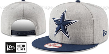 Cowboys 'HEATHER GRAND REDUX SNAPBACK' Grey-Navy Hat by New Era